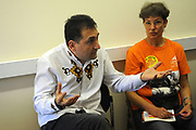 Machynlleth, Wales. 29th July, 2017. <br /> Fidel Narvaez, from the Ecuadorian embassy, speaking at the Ecuador for beginners workshop.<br /> Photographer; Kevin Hayes