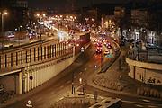 """2020-02-26 Kraków. Widok na budynki """"High5ive"""" kompleksu pięciu budynków biurowych, w samym centrum Krakowa. Kompleks biurowy znajduje się tuż przy Dworcu Głównym, Galerii Krakowskiej oraz historycznym centrum miasta. w bezpośrednim sąsiedztwie dworca kolejowego Kraków Główny."""