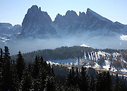 Vista of Le Dolomiti, in Val Gardena, Italy