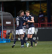 24th November 2017, Dens Park, Dundee, Scotland; Scottish Premier League football, Dundee versus Rangers; Dundee's Mark O'Hara is congratulated after scoring for 2-1 by Glen Kamara and Jack Hendry