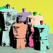 What is it about modern posterized living that is so special? La Famiglia Bialetti, Nov 2011<br /> <br /> photo illustration, 17x8&quot;
