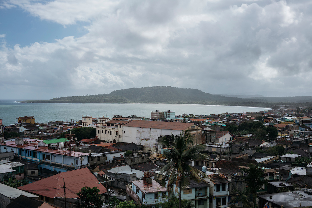 The skyline of Baracoa, Eastern Cuba.
