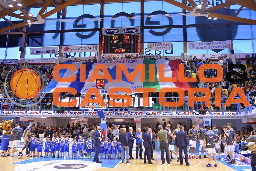 Ultras, Tifosi, Spettatori, Pubblico<br /> Enel Brindisi - EA7 Emporio Armani Milano<br /> BASKET Serie A 2016-2017<br /> Brindisi 15/04/2017<br /> FOTO CIAMILLO / M.Longo