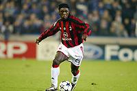 Fotball, 4. november 2003, Champions League,, Club Brugge ( Brügge )-Milan 0-1,  Clarence Seedorf, Milan
