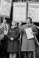 Cllr David Blunkett, leader of the City Council speaking at a rally in support of a Nalgo strike in against cuts in council services, Sheffield. Dec 1981.