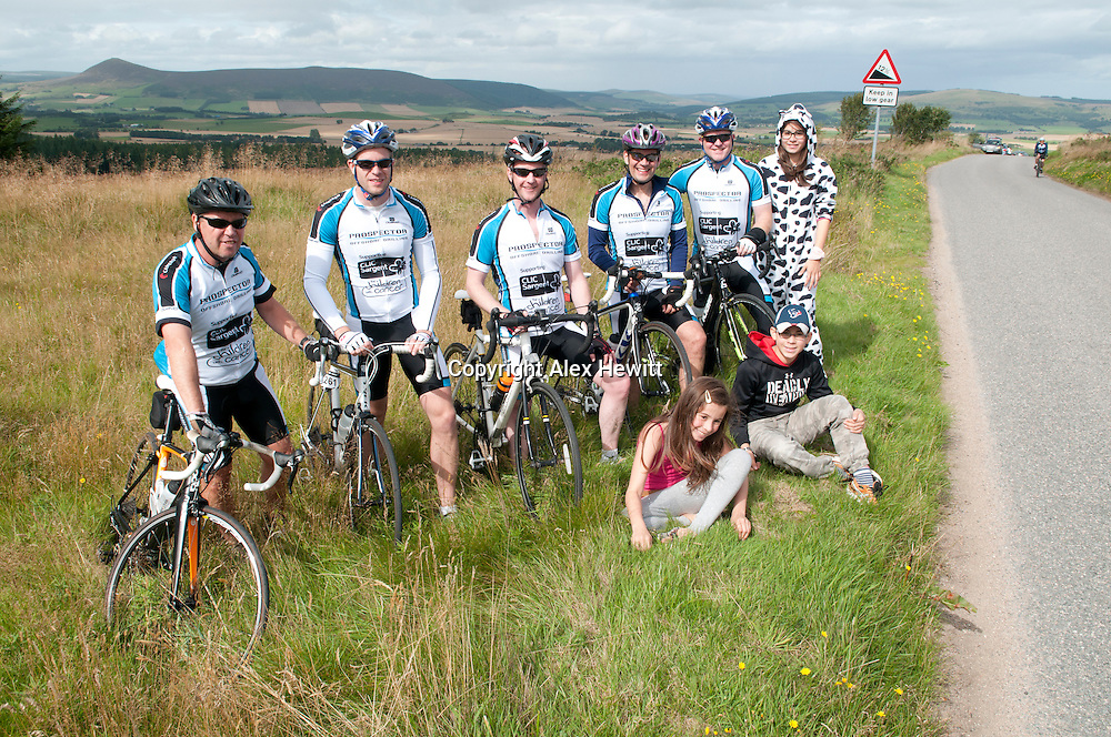 The 3rd Annual Ride the North charity cycle. Riders on their way to Rhynie through some very scenic roads outside Inverness. 30th August 2013<br /> <br /> Picture by Alex Hewitt<br /> 07789 871 540<br /> <br /> Reproduction fees payable to Alex Hewitt