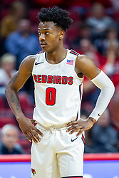 NORMAL, IL - November 10: DJ Horne during a college basketball game between the ISU Redbirds and the Little Rock Trojans on November 10 2019 at Redbird Arena in Normal, IL. (Photo by Alan Look)