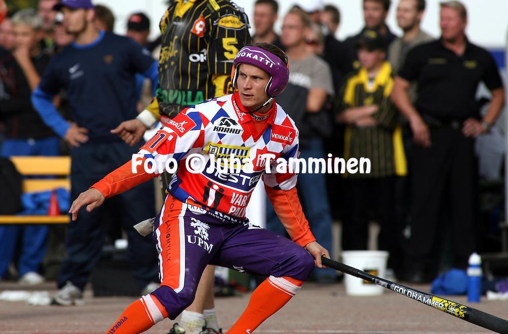 05.09.2009, Kouvola..Superpesis 2009, 1. loppuottelu.Kouvolan Pallonly?j?t - Sotkamon Jymy.Jarmo Heikkinen - Sotkamo.©Juha Tamminen.