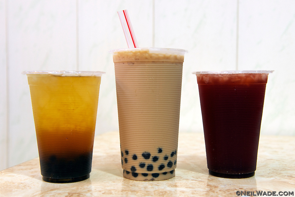Bubble milk tea and other kinds of tea