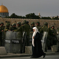Israeli troops during Clashes in east Jerusalem., January 2008.....