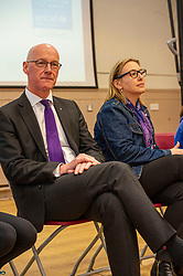 Pictured: John Swinney and Lucinda Rivers, Head of UNICEF UK in Scotland<br />