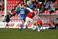 10.05.2007, Anjalankoski, Finland..Veikkausliiga 2007 - Finnish League 2007.Myllykosken Pallo-47 - FF Jaro.Niki Helenius (MyPa) v Niklas Storbacka (Jaro).©Juha Tamminen.....ARK:k