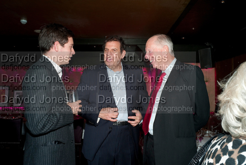 JAMES ROTHSCHILD; FREDERICK ISEMAN; LORD ROTHSCHILD, Bitch- Auction and fundraiser for the dog charity Care. The Cuckoo Club, London. 7 December 2010. -DO NOT ARCHIVE-© Copyright Photograph by Dafydd Jones. 248 Clapham Rd. London SW9 0PZ. Tel 0207 820 0771. www.dafjones.com.