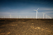 Gansu, China - 26 Feb 2010. Datang wind farm, Gansu province, China. China has set a target for renewable energy consumption of 40 percent of the market by the year 2050.