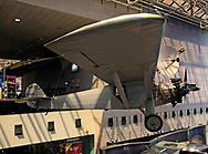 The Spirit of St Louis at the Smithsonian Air and Space Museum on the mall in Washington, DC.  Photo by Dennis Brack