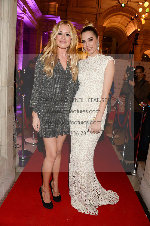 Lwft to right, CAT DEELEY and AMBER LE BON at the WGSN Global Fashion Awards held at the V&A museum, London on 30th October 2013.