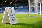 The Portsmouth pitch during the Capital One Cup match between Portsmouth and Reading at Fratton Park, Portsmouth, England on 25 August 2015. Photo by Adam Rivers.