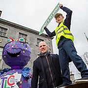 21.02.2017       <br /> Team Limerick Clean-Up is inviting the people of Limerick to get involved in an exciting competition to &lsquo;Name the TLC3 Litter Monster&rsquo;. Paul O&rsquo;Connell was joined by pupils from Bruree National School and representatives from the JP McManus Benevolent Fund at the Hunt Museum to announce details of the competition. <br /> <br /> Attending the event and helping launch the initiative were, Paul O'Connell and Bruree National School pupil, Daniel Scully, 12. Picture: Alan Place