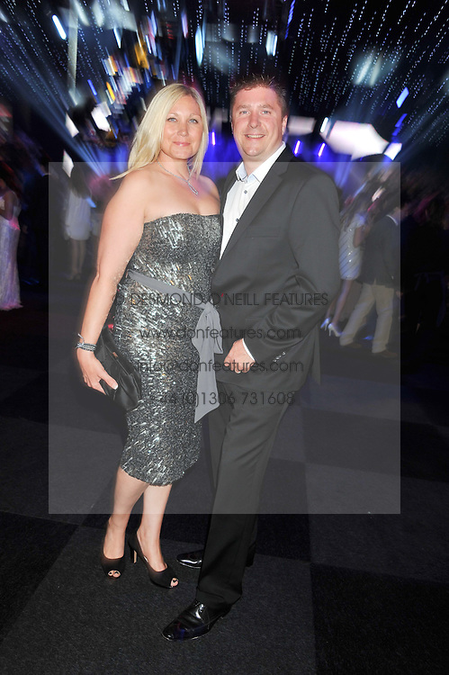 DAVID CROFT Sky Sports TV broadcaster and his wife VICTORIA CROFT at the F1 Party in aid of Great Ormond Street Hospital Children's Charity held at Battersea Evolution, Battersea Park, London on 4th July 2012.
