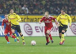 12.11.2010, Signal Iduna Park, Dortmund, GER, 1.FBL,  Borussia Dortmund vs Hamburger SV, im Bild: David Jarolim (Hamburger SV #14), Mitte, vs Kevin Großkreutz / Grosskreutz (Dortmund GER #19), rechts, links sind Nuri Sahin (Dortmund TUR/GER #8) und Piotr Trochowski (Hamburger SV #15), EXPA Pictures © 2010, PhotoCredit: EXPA/ nph/  Scholz+++++ ATTENTION - OUT OF GER +++++