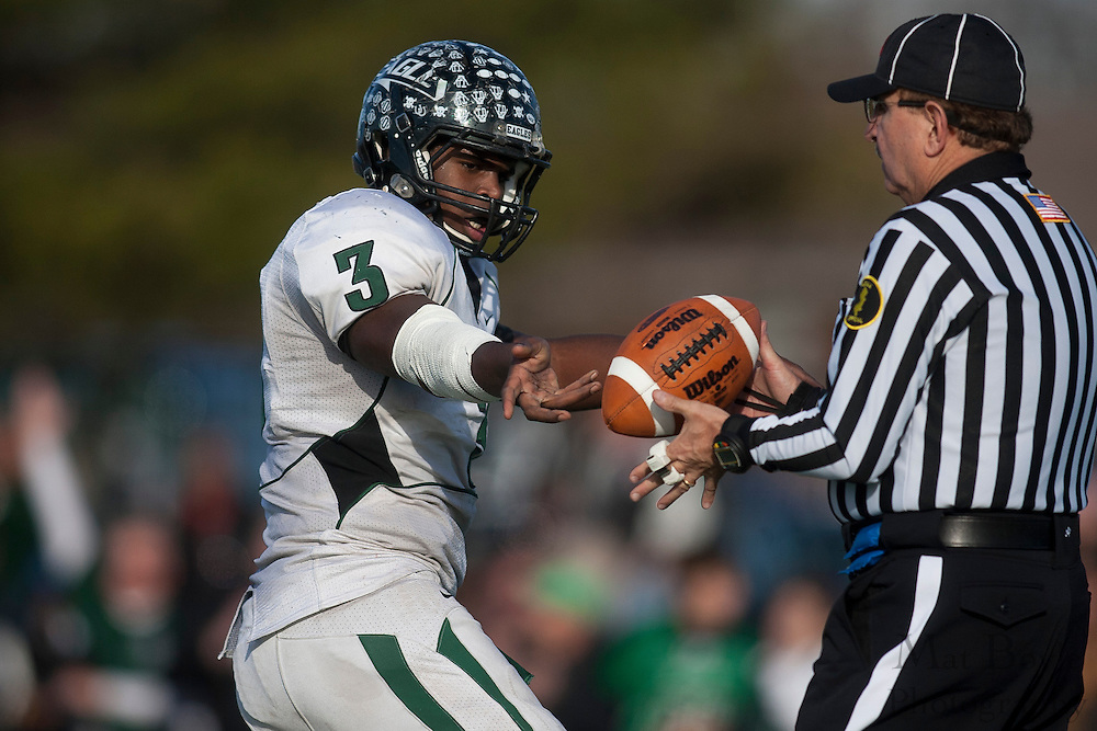 West Deptford High School's Gerald Towns (3)..NJSIAA South Jersey Group 2 Title match between West Deptford High School and Haddonfield Memorial  High School held at Coach Richard Wacker Stadium on the campus of Rowan University in Glassboro, NJ Saturday, December 3, 2011. (photo: Mat Boyle)