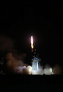Apr 06, 2016 - Jiu Quan, China - A Long March 2-D rocket carrying the SJ-10 Satellite blasts off at the Jiuquan Satellite Launch Center in Jiuquan, northwest China's Gansu Province, April 6, 2016. China put into space a retrievable scientific research satellite in the early hours of Wednesday in a fresh bid to aid scientists back on Earth in studying microgravity and space life science.  <br /> (Credit Image: © Exclusivepix Media)