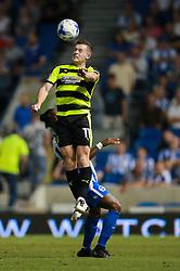 Harry Bunn of Huddersfield Town heads the ball - Mandatory by-line: Jason Brown/JMP - 13/09/2016 - FOOTBALL - Amex Stadium - Brighton, England - Brighton & Hove Albion v Huddersfield Town - Sky Bet Championship