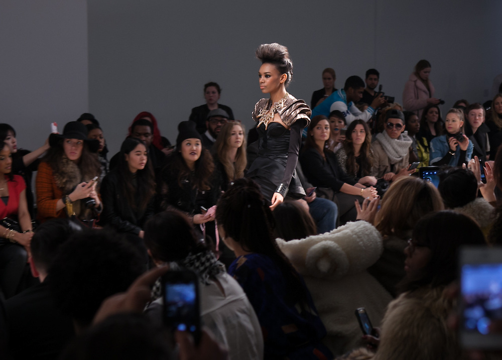 Leka Runway Show At Nolcha Fashion Week In New York For 2014 Fall Winter Presented By Rusk New York Photographer Jeffrey Holmes
