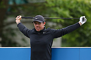 Rory Mcllroy stretching during the Celebrity Pro-Am day at Wentworth Club, Virginia Water, United Kingdom on 23 May 2018. Picture by Phil Duncan.