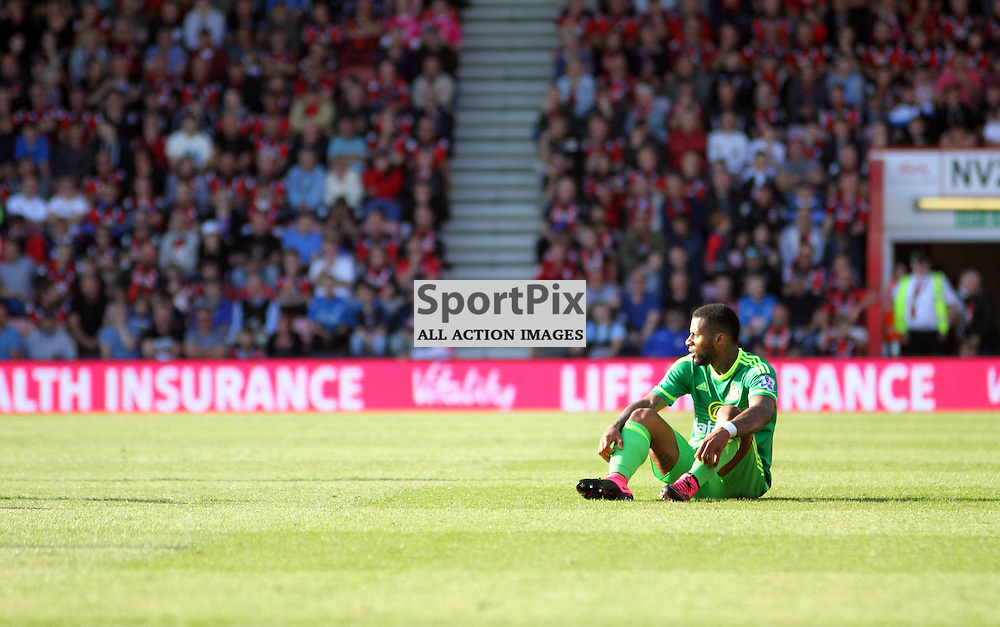 JEREMAIN LENS looks dejected after being fouled During Bournemouth vs Sunderland on Saturday 19th September 2015.