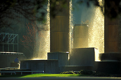 Stock photo of the Wortham Fountain in Tranquility Park in downtown Houston, Texas.