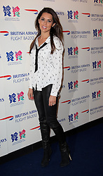 Danielle Lineker at the launch of the Flight BA2012 pop up restaurant in London, Tuesday 3rd April 2012.  Photo by: Stephen Lock / i-Images