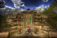 Lisa Johnston | lisa@aeternus.com | Tiwtter: @aeternusphoto Outdoor Shrine to Our Lady of Guadalupe in Fergussen, Missouri