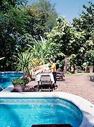 Pool at Satri House hotel.