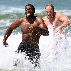 DURBAN, SOUTH AFRICA, December 10. 2015 -Sibusiso Sithole during The Cell C Sharks Pre Season Beach South Beach training for the 2016 Super Rugby Season . (Photo by Steve Haag)<br /> images for social media must have consent from Steve Haag