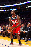 22 March 2013: Forward (9) Martell Webster of the Washington Wizards sets up to shoot the ball against the Los Angeles Lakers during the first half of the Wizards 103-100 victory over the Lakers at the STAPLES Center in Los Angeles, CA.