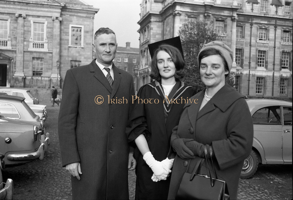 Degrees at Trinity College Dublin.<br /> 06.12.1962