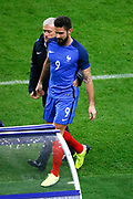 Didier Deschamps (FRA) and Olivier Giroud (FRA) during the 2017 Friendly Game football match between France and Wales on November 10, 2017 at Stade de France in Saint-Denis, France - Photo Stephane Allaman / ProSportsImages / DPPI