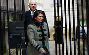 UNITED KINGDOM, London: 1 March 2016. Work and Pensions Secretary Iain Duncan Smith (L), Minister of State for Employment Priti Patel (R) arrives in Downing Street to attend Cabinet meeting in central London.  Pic by Andrew Cowie / Story Picture Agency