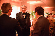 "Photo by Matt Roth.Assignment ID: 10137379A..Ray LaHood, transportation secretary, speaks with guests at the Buffy and Bill Cafritz, Ann and Vernon Jordan, Vicki and Roger Sant inaugural ""Bi-Partisan Celebration"" at the Dolley Madison Ballroom at the Madison Hotel in Washington, D.C. on Monday, January 21, 2013."