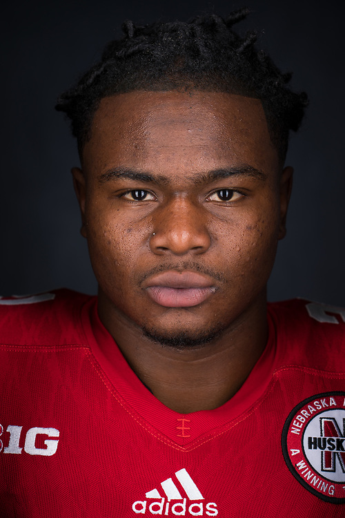 MIKALE WILBON #21 during a portrait session at Memorial Stadium in Lincoln, Neb. on June 7, 2017. Photo by Paul Bellinger, Hail Varsity