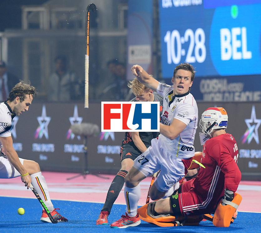 Odisha Men's Hockey World League Final Bhubaneswar 2017<br /> Match id:12<br /> Belgium v Netherlands<br /> Foto: Tom Boon (Bel) and keeper Sam van der Ven (Ned) <br /> COPYRIGHT WORLDSPORTPICS FRANK UIJLENBROEK