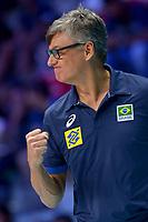 Brazil coach Renan Dal Zotto.<br /> Torino 29-09-2018 Pala Alpitour <br /> FIVB Volleyball Men's World Championship <br /> Pallavolo Campionati del Mondo Uomini <br /> Semifinal<br /> Brasile - Serbia / Brazil - Serbia<br /> Foto Antonietta Baldassarre / Insidefoto