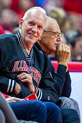NORMAL, IL - December 07: Doug Collins and Don Franke during a college basketball game between the ISU Redbirds and the Morehead State Eagles on December 07 2019 at Redbird Arena in Normal, IL. (Photo by Alan Look)