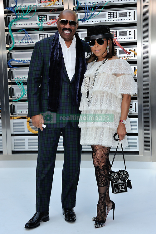 Steve Harvey and Marjorie Harvey attending the Chanel show as a part of Paris Fashion Week Ready to Wear Spring/Summer 2017 in Paris, France on October 04, 2016. Photo by Aurore Marechal/ABACAPRESS.COM