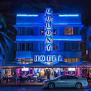 Colony Hotel Miami at Night