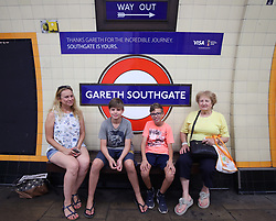 Southgate Tube station in north London is temporarily renamed ÔGareth SouthgateÕ for 48 hours, to welcome home England football manager Gareth Southgate and his team after the World Cup.