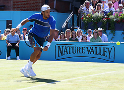 June 22, 2018 - London, United Kingdom - Feliciano Lopez (ESP) in action .during Fever-Tree Championships Quarter Final match between Feliciano Lopez (ESP) against Nick Kyrgios (AUS) at The Queen's Club, London, on 22 June 2018  (Credit Image: © Kieran Galvin/NurPhoto via ZUMA Press)