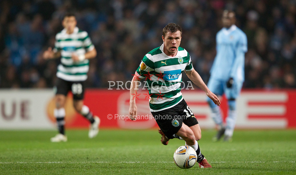 MANCHESTER, ENGLAND - Thursday, March 15, 2012: Sporting Clube de Portugal's Marat Izmailov during the UEFA Europa League Round of 16 2nd Leg match against Manchester City at City of Manchester Stadium. (Pic by Vegard Grott/Propaganda)