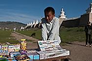 Mongolia. Erden Zuu temple BUDDHIST.   KarakorOm  -  /  Le temple BOUDHISTE de Erden Zuu .   Karakorum  - Mongolie